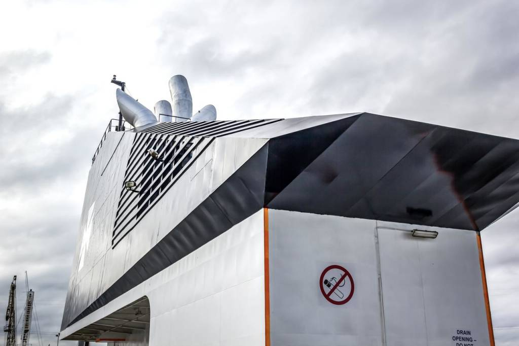 DFDS ship funnel, 2