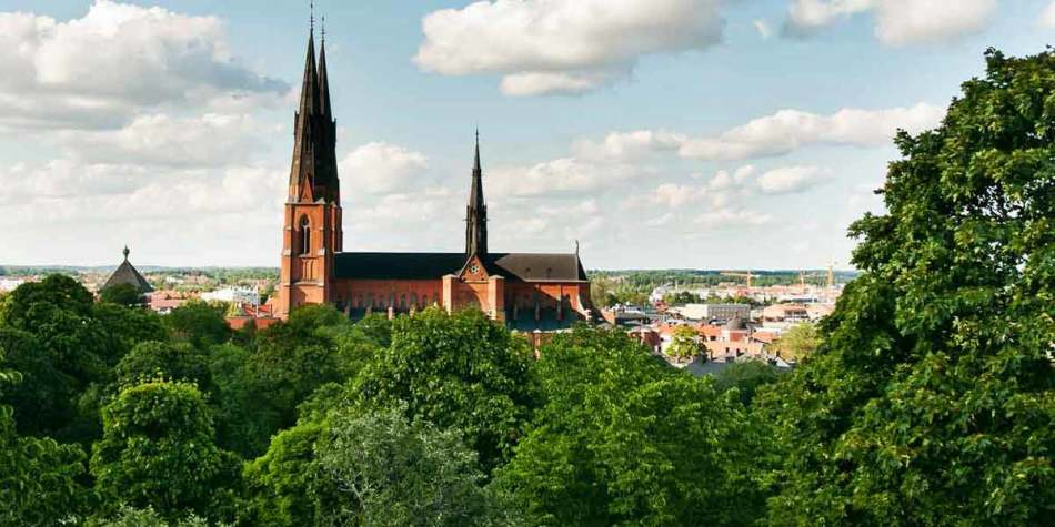 Top view over Uppsala