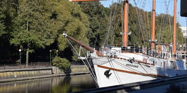 Meridian skipet i Klaipeda i Litauen