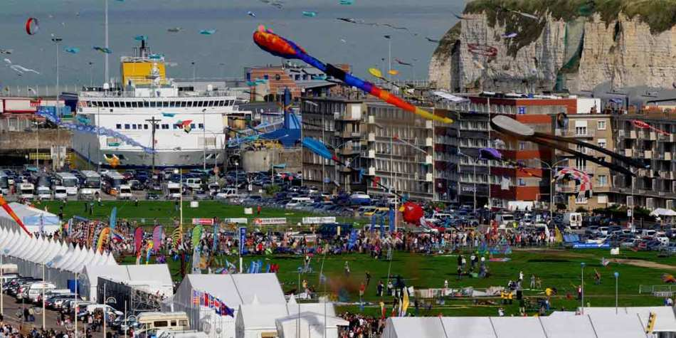 Kite Festival by the coast in Dieppe