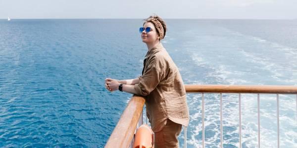 woman deck