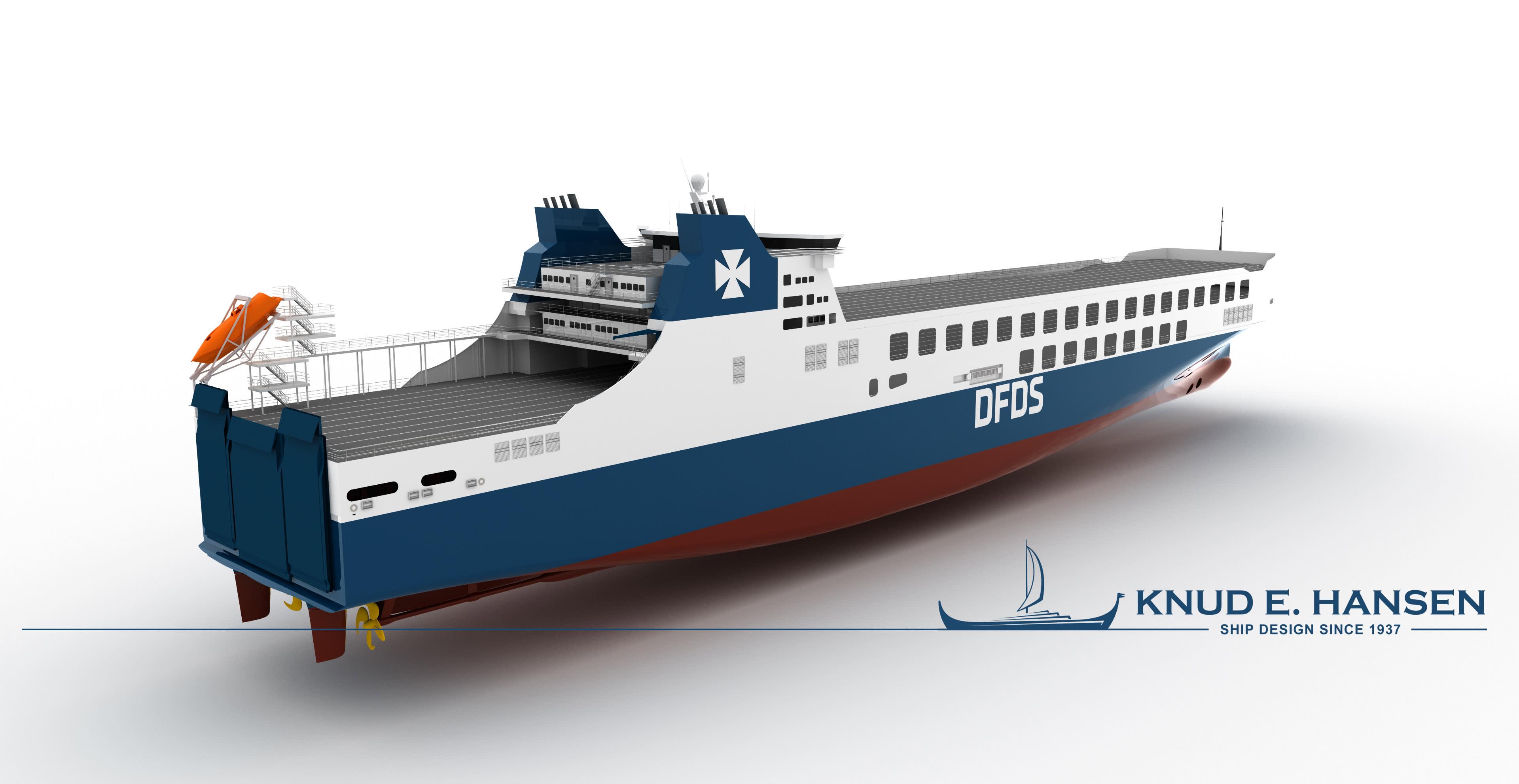 CSC Jinling Shipyard DFDS RoRo design