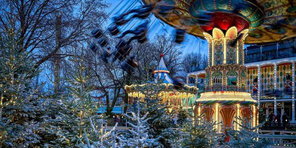 swings tivoli christmas
