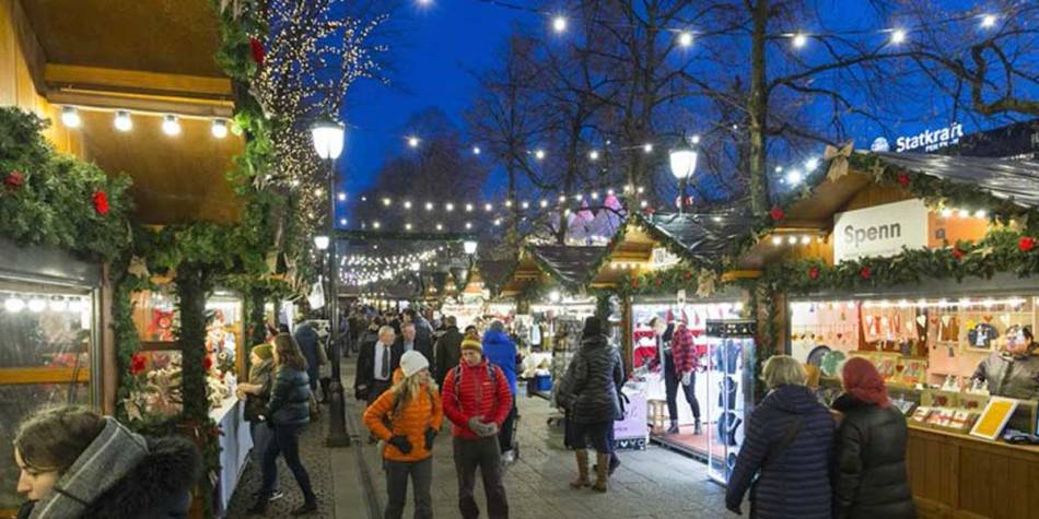 Winter market in Oslo