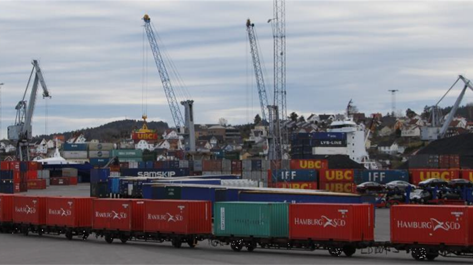 Cargo at the Brevik terminal