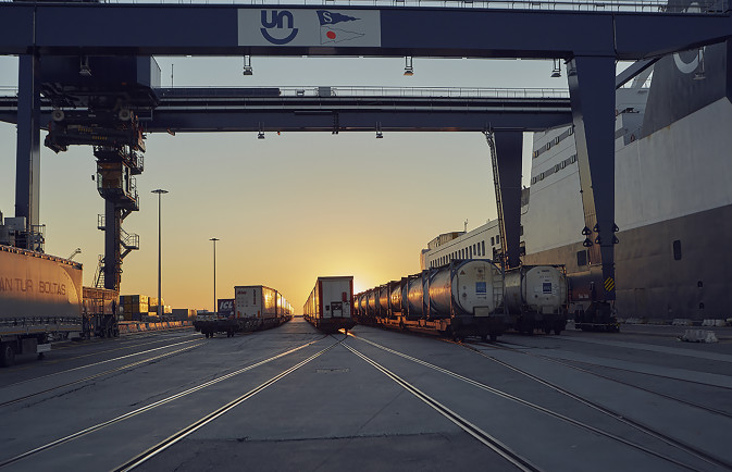 DFDS intermodal terminal in Trieste, Italy