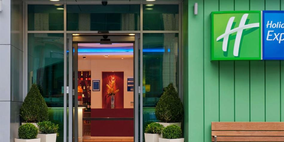 Holiday Inn express located in the heart of the city