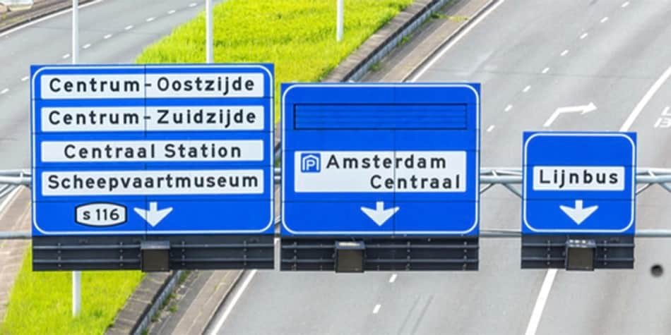 Road signs in Holland