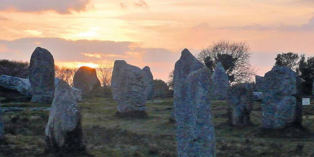 Carnac stones in Great Brittany