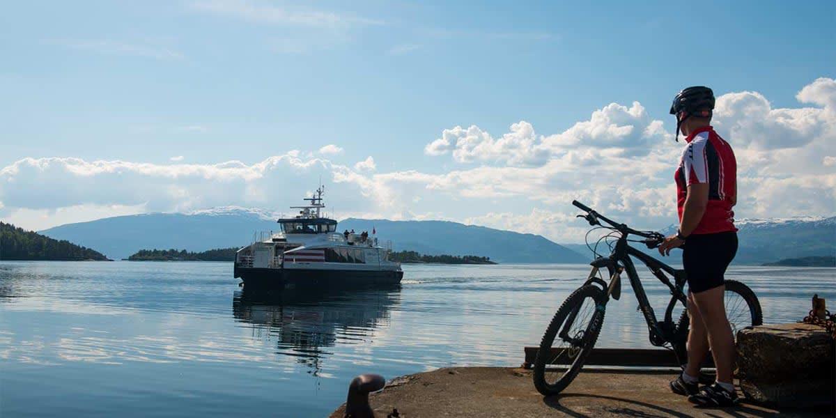 på en cykel i Oslo