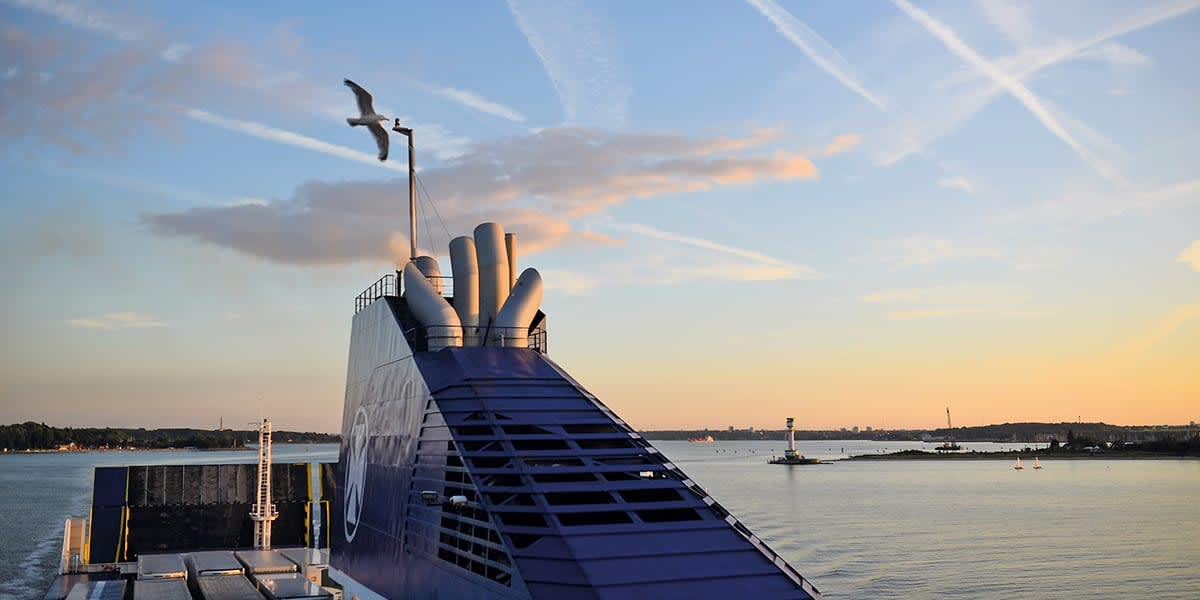 DFDS ferry in Klaipeda