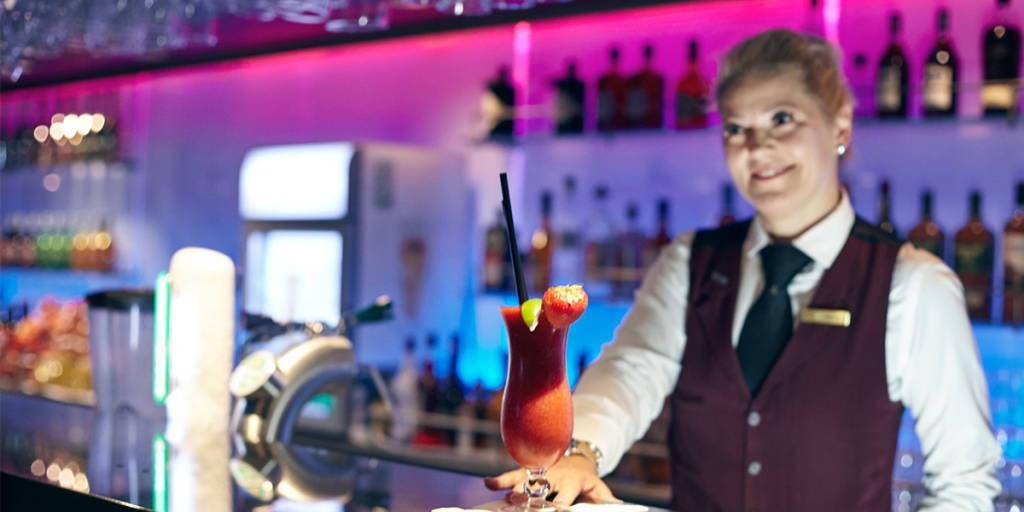 Bar onboard Newcastle-Amsterdam