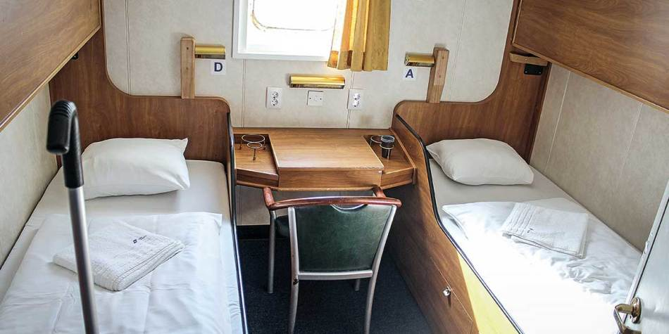 Example of DFDS standard sea view cabin