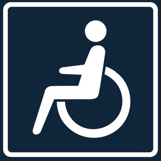 'Disabled Passenger in a Car' Sign