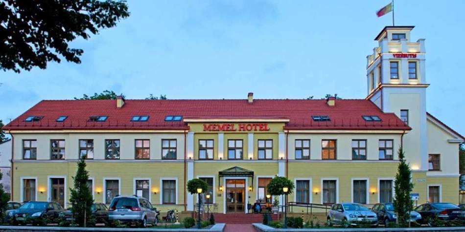 Exterior of Memel Hotel Lithuania