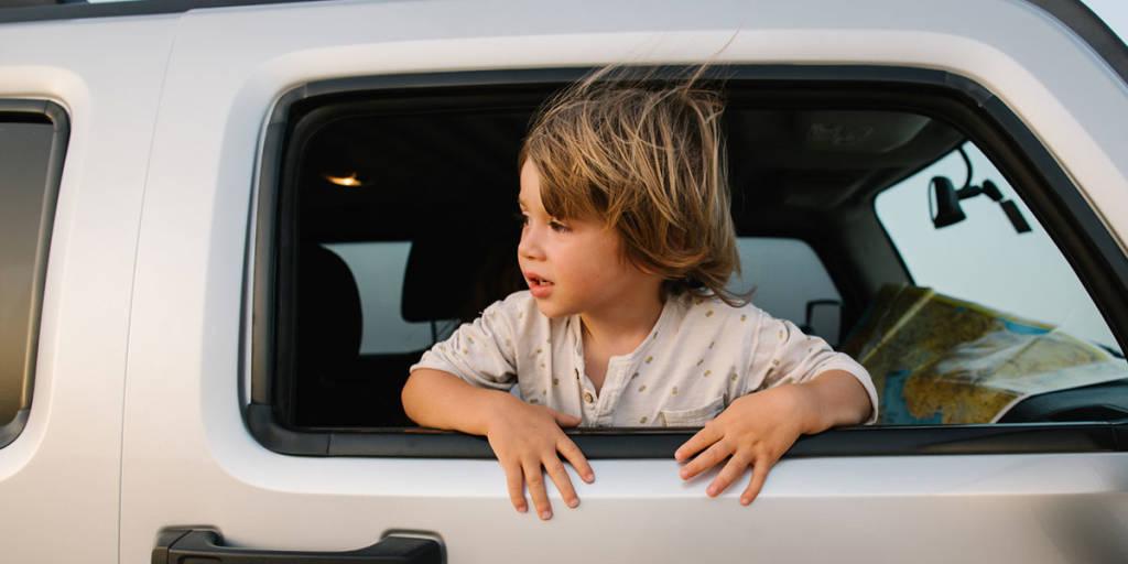 Roadtrip - child in a car