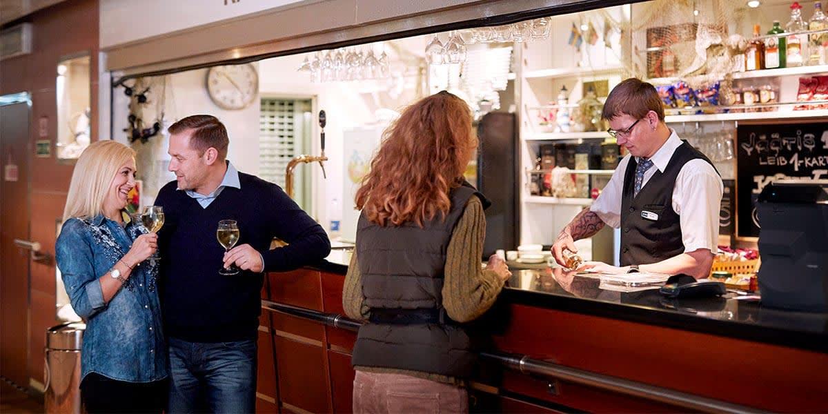 Couple at Captain's bar