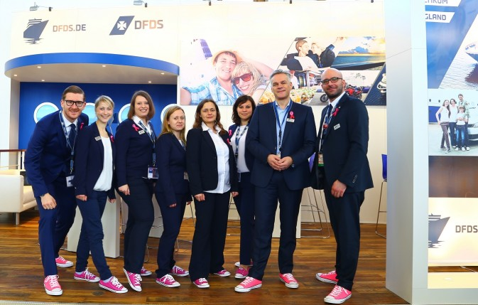DFDS German team wearing pink sneakers