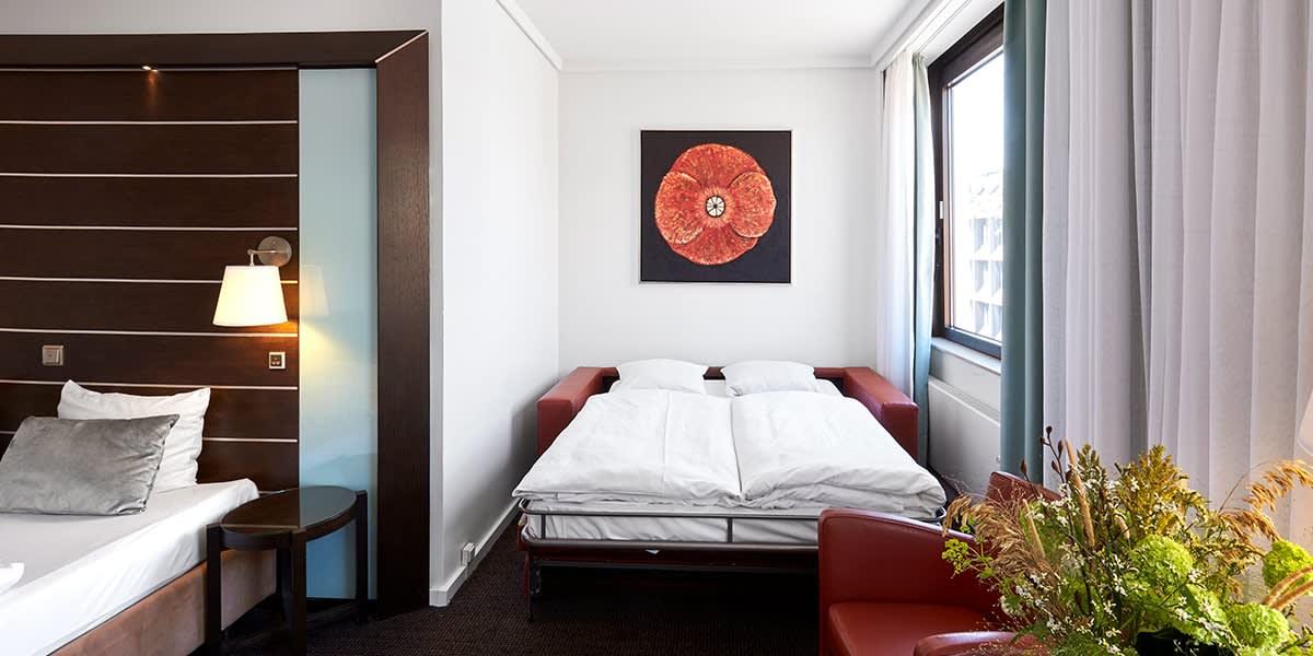 Imperial hotell i København - familie rom for 4