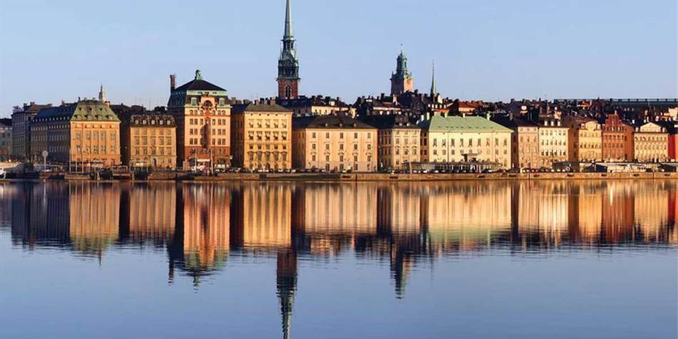 Beautiful view over the city of Stockholm