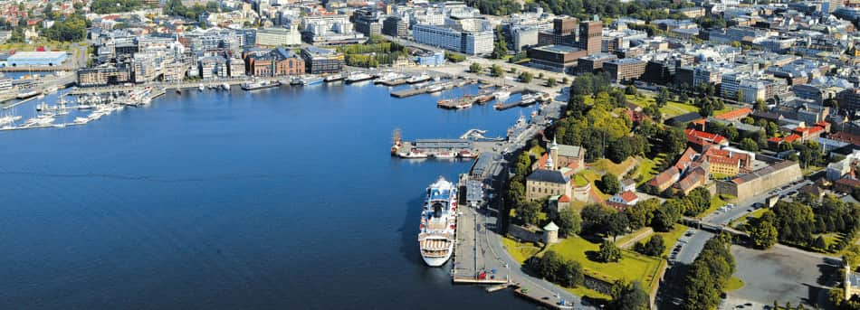 Overview of Oslo habour in Norway