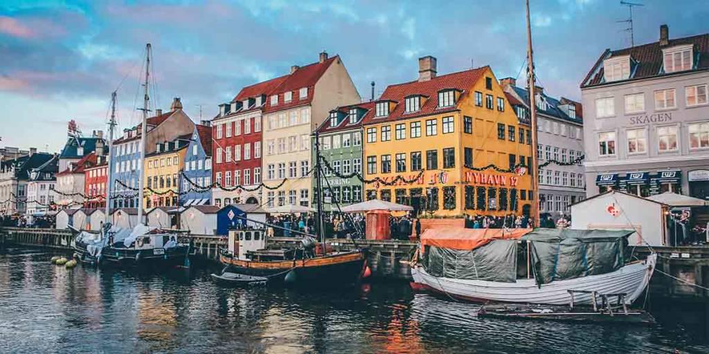 Boats on the water in Copenhagen