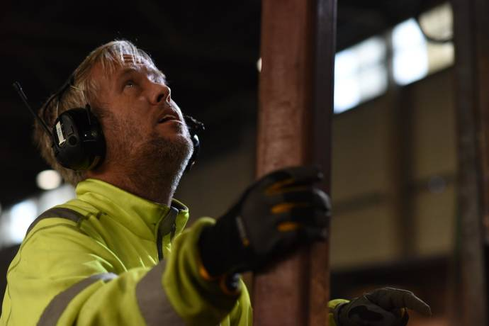 People at work - A man working with steel