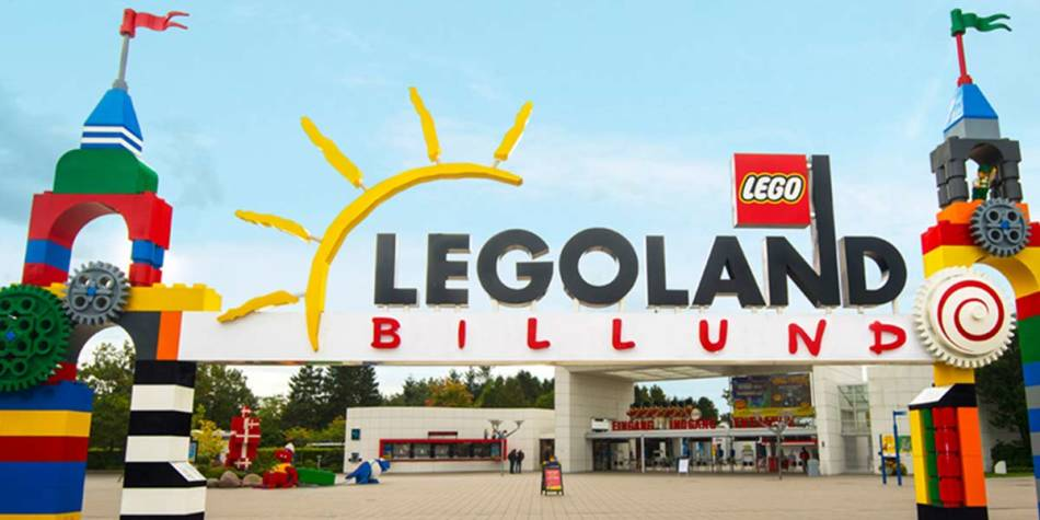 Entrance to Legoland, Denmark