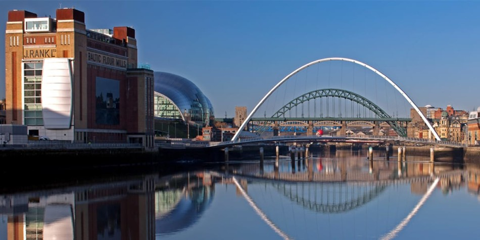 Newcastle Quayside and The Baltic art museum
