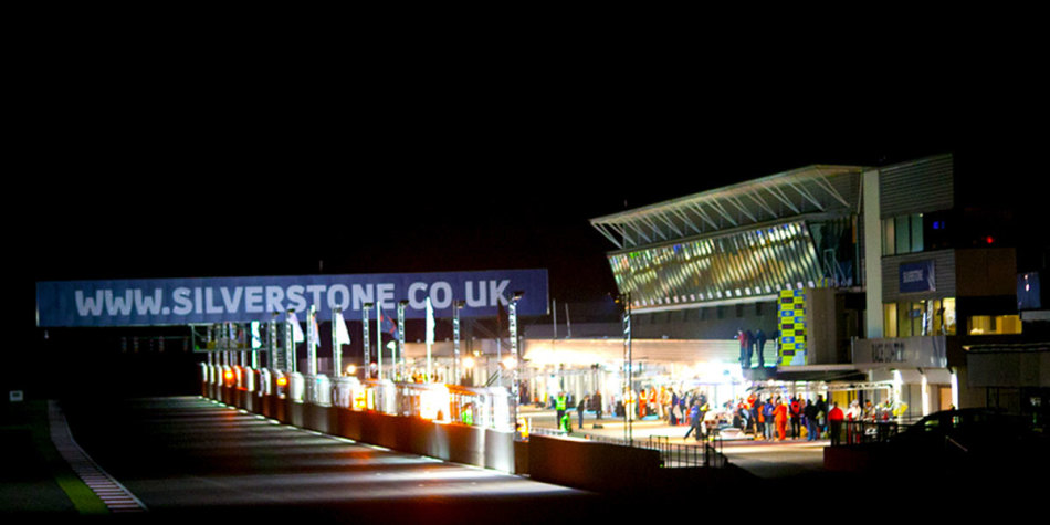 Silverstone at night time