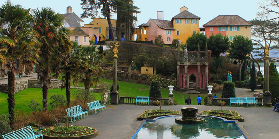 Portmeirion tourist village Wales