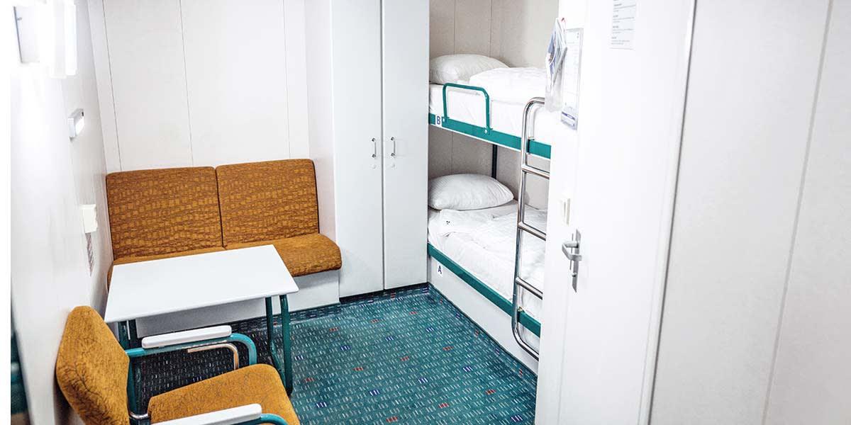 Standard inside cabin onboard Klaipeda-Karlshamn