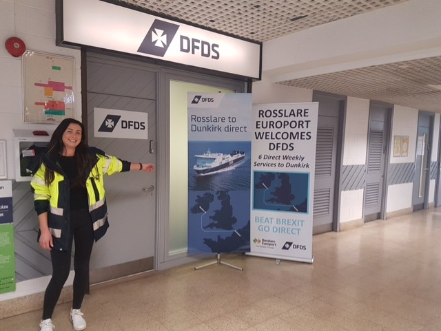 Donna Lynch new Port Assisting Manager in DFDS new office in Rosslare