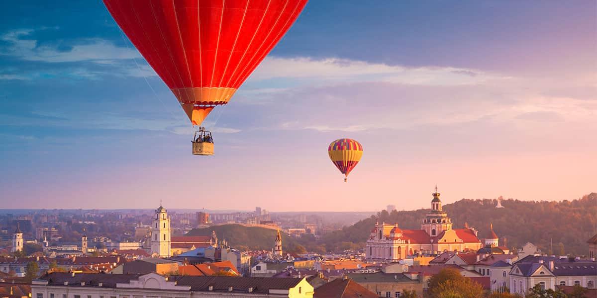 Air balloons in Vilnius
