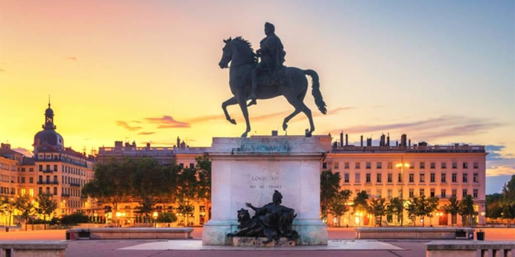 Lyon, France - statue