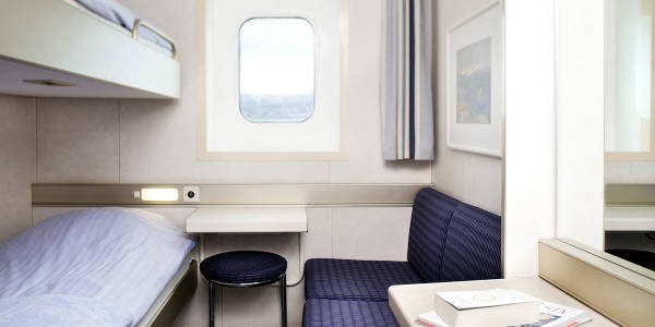 Seaview cabin onboard Newcastle-Amsterdam