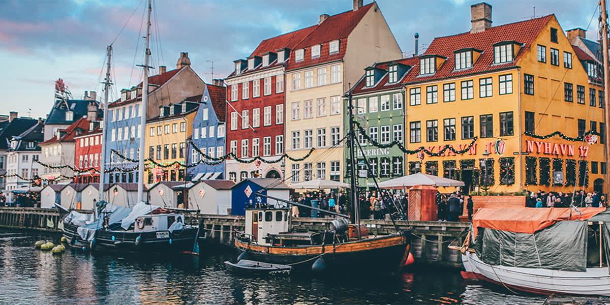 Nyhavn in winter, Copenhagen