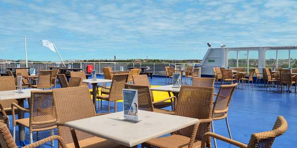 Sky bar deck onboard Newcastle-Amsterdam