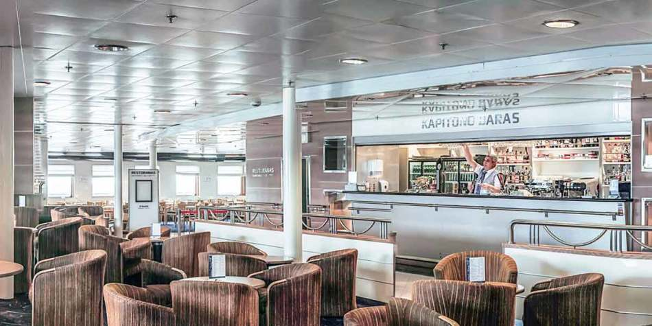 Kapitono bar onboard DFDS ferry
