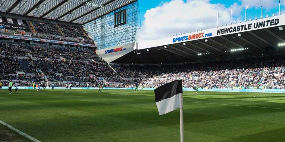 St James Park, Newcastle on a sunny match day