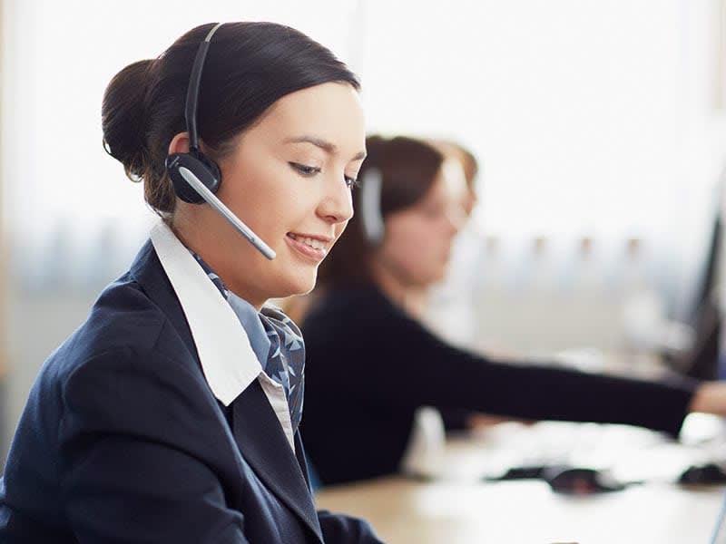 Customer service call centre staff