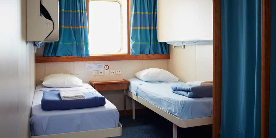 Seaview cabin with 2 beds onboard Newhaven- Dieppe ferry.