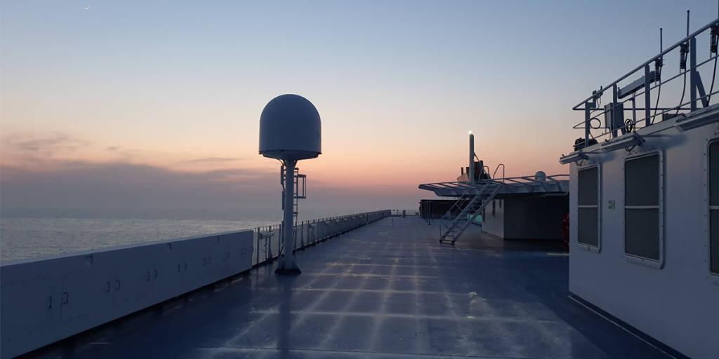 Morning sea trials