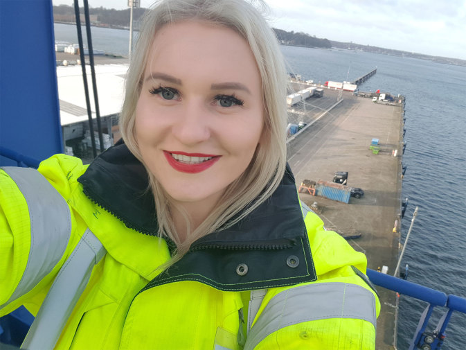 DFDS Shipping and Logistics Trainee on a vessel