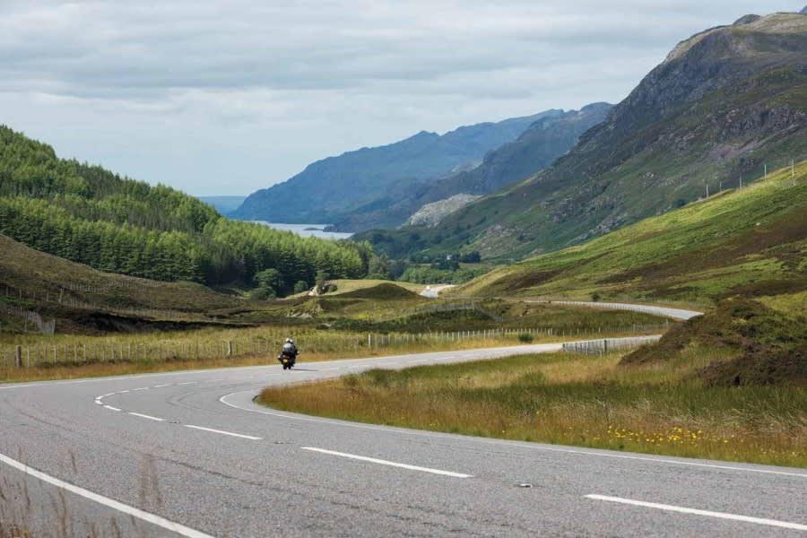 Highlands Scotland motorcycle