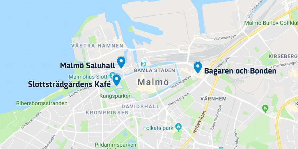 Swedish fika - Malmo map