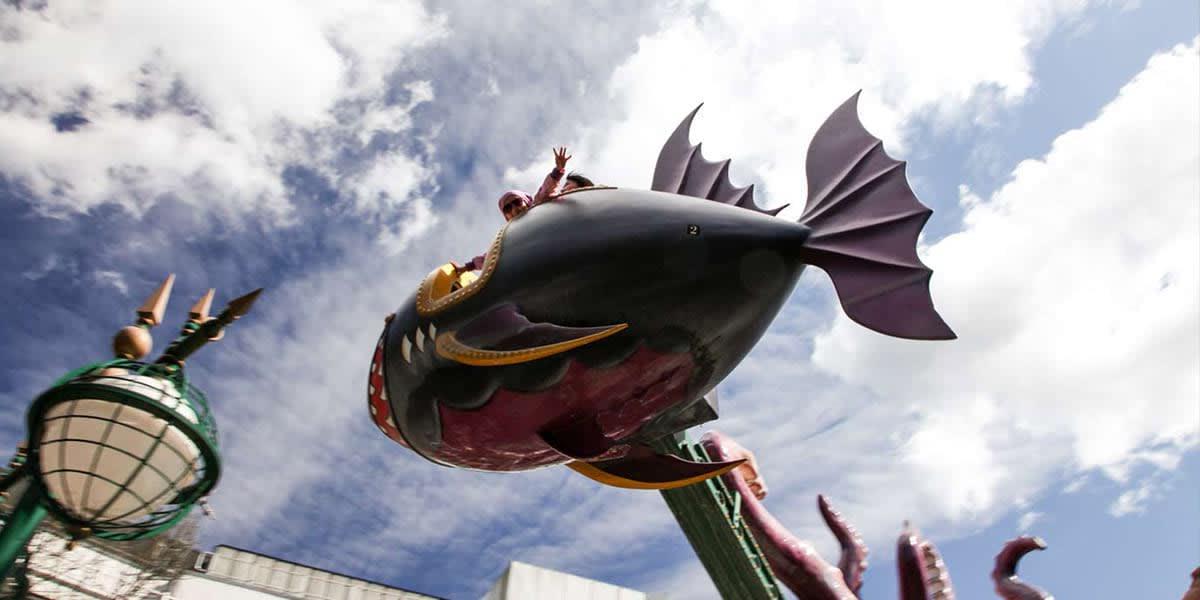 Tivoli flying fish ride Copenhagen