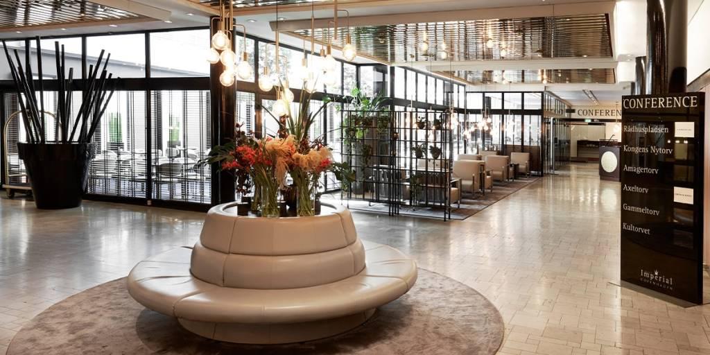 Imperial hotell i København - lobby