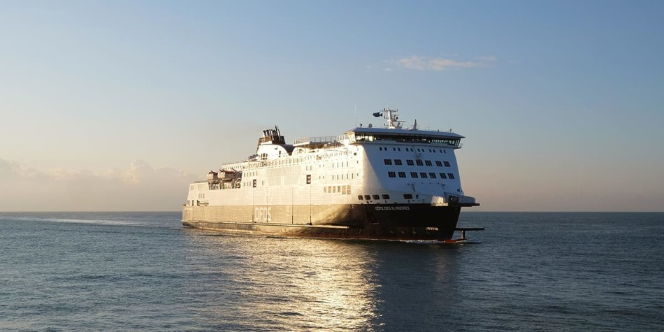 Calais ferry at sea