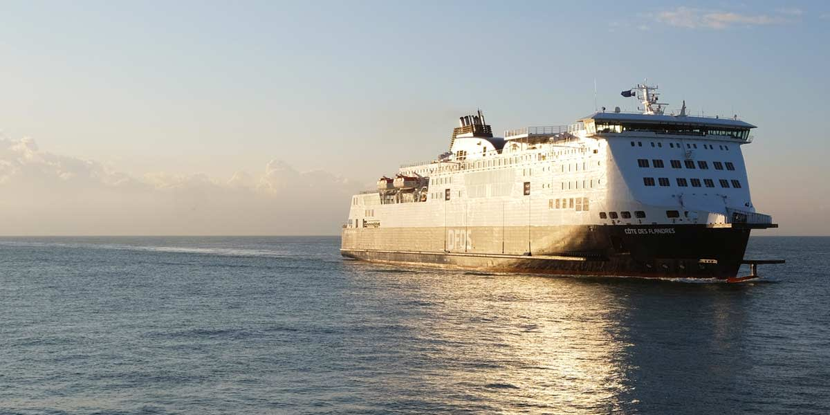 Færge på ruten Dover-Calais